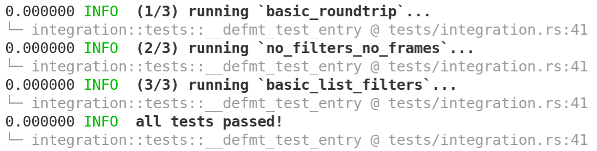 improved defmt-test output formatting
